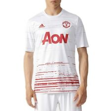 Maillot Entrainement Manchester United Football Blanc Homme Adidas