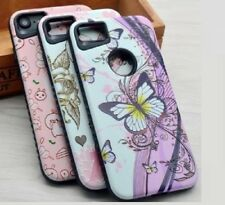Hybrid TPU PC Hard Back Shockproof Case Cover for  iPhone 5 5S SE 6s 7 8 Plus X