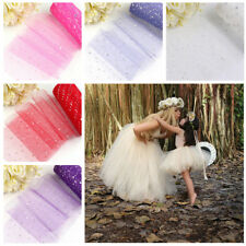 """6"""" 25 Yards Sequin Tulle Roll Spool Puff Tutu Skirt Decor For Gift Wedding Party"""