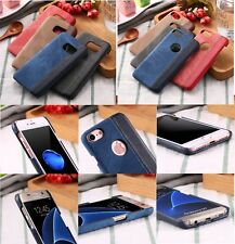 Funda Cover vaquero cuero cabelludo sensible rígido para IPhone 5 6 7 8 Plus
