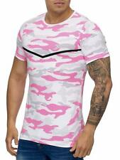 Mimetico T-Shirt Rosa Militare Mimetico Soldati Air Force Army Mainstream Moda