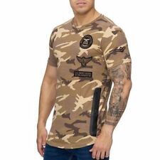 Mimetico T-Shirt Marrone Militare Forze Armate Air Force Army 84 Mainstream Moda