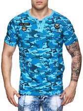 Mimetico T-Shirt Blue Militare USA Air Force Esercito Bundeswehr Mainstream Moda