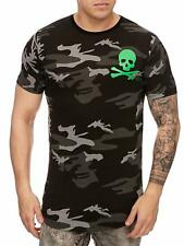 Mimetico T-Shirt Black Us Air Force Army Verde Teschio Teschio Mainstream Moda