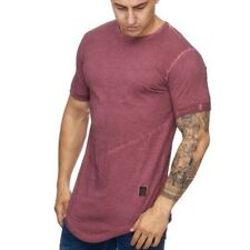 Extra Grande Camiseta Roja Larga Shaped Clubwear Stonewashed 22 Mainstream Moda