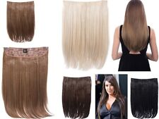 DOLCE18 LONG HEAT RESISTANT STRAIGHT ONE PIECE SYNTHETIC HAIR EXTENSIONS CLIP IN