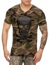Mimetico T-Shirt Marrone Teschio Air Force Army Teschio Teschio Mainstream Moda