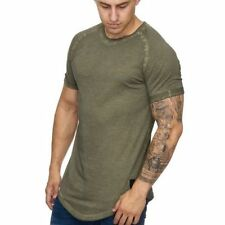 Extra Grande Camiseta Caqui Shaped Ovalada Larga Verde 912 Mainstream Moda