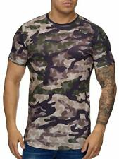 Mimetico T-Shirt Marrone Stella Motivo USA Militare Army 68 Mainstream Moda