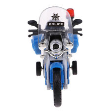 Diecast Alloy Patrol Motocicletta Toy Pull Back Lampeggiante LED Light
