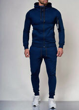 Mens Jogginganzug Blu Tuta Sportiva Sweatpants 64 Felpa con Cappuccio Mainstream