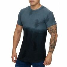 Extra Grande Camiseta Negra Destroyed Larga Ovalada Stonewashed Mainstream Moda