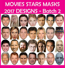 READY CUT Celebrity Face Masks MOVIE STARS Fancy Dress Party - MANY TO CHOOSE 2