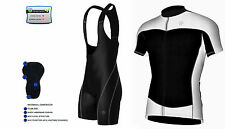 Maillot Ciclismo Hombre Media Manga Top Racing Ciclismo Top + Bib Shorts Set