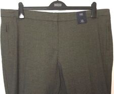 M&S Marks Brown Ladies Fine Check Tailored Slim Leg Stretch Trousers 22 BNWT