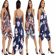 Womens Cami Multicolor Printed Strappy Playsuit Romper Ladies V Neck Jumpsuit