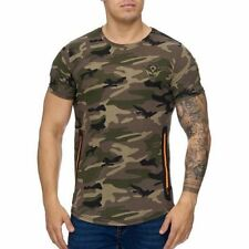 Mimetico T-Shirt Cachi Arancione Zip USA Militare 84 Army Mainstream Moda