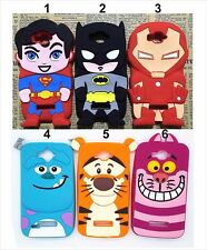 Housse Etui silicone tiger sulley iron cat pour alcatel one touch Pop C7