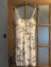 Lovely BNWT M&S Rosie @ Autograph oatmeal print jersey padded cup chemise 8 & 10