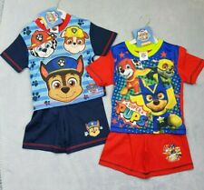 Official Paw Patrol Short Summer Pyjamas Boys Blue 12 Months - 5 Years