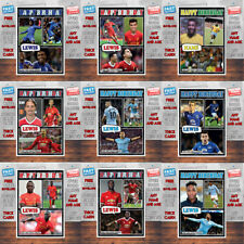 Personalised Kids Adults CUSTOM Football Birthday Cards - Any Team Any Player B3
