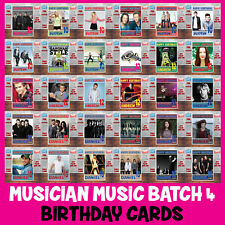 Personalised Kids or Adults CUSTOM Music Birthday Cards - Any Musician B4