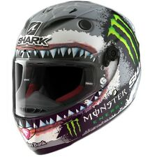 Shark Race-R pro Carbón Lorenzo Shark Energía Monstruosa Moto Luz Casco