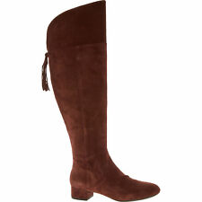 GEOX Women's CAREY B Knee High Suede Boots, Colour Cigar, size UK 6 or UK7