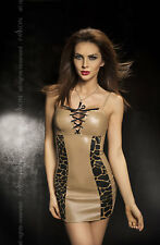 Women's Sexy Lace Up Bust Mini Dress Clubwear Lingerie