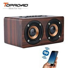 Toproad Wooden Wireless Bluetooth 10W Speaker - Portable HiFi System/Soundbar