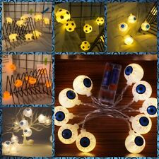 10 20 LEDs Halloween Pumpkin Eyeball String Light Holiday Party Decoration CA