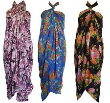 NEW Large FLORAL Sarong Beach Pareo Dress Wrap Swimwear Cover Up Unisex180X100cm