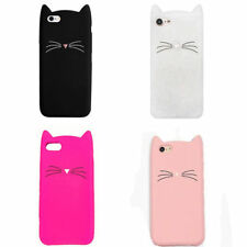 Rubber Soft Case Cover Silicone Shockproof Cute Cat For iPhone 5s 6s 7 8 Plus X