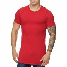 Extra Grande Camiseta Roja Larga Ceñido Slim Fit Runthals 23 Mainstream Moda