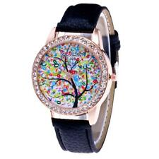 Unisex Quartz Leather Analog Watch with Color Design. Gift.
