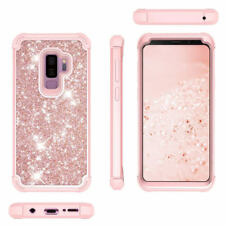For Samsung Galaxy S9 Bling Sparkle Armor Hybrid Shockproof 3 in 1 Case Cover