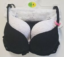 New Black and White Pack of 4 Lace Set Bras and Knickers Womens Ladies Primark