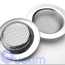 Bathroom Kitchen Round Mesh Sink Strainer Drain Basin Filter Stainless Steel