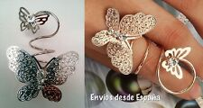 Anillo ajustable Mariposa doble con Cristal - Adjustable ring double butterfly