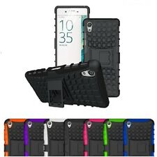 Sony Xperia Z3 Case - Shockproof Rugged Bumper Hybrid Tough Armor Stand Cover