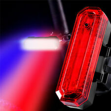 USB Rechargeable Bicycle Cycling Bike LED Tail Light Safety Warning Rear Lamp