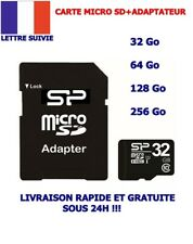 CARTE  MICRO SD MEMOIRE FLASCH 32 64 128 256 CLASSE 10 + ADAPTATEUR