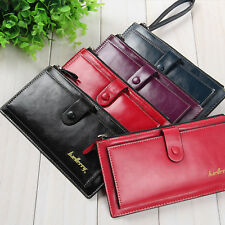 Baellerry Leather Wallet Long Credit Card Money Coin Holder Women Purse Ladies