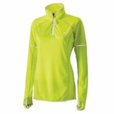 Harry Hall Hi Viz Long Sleeve Air Mesh Zip Women's Top - Yellow All Sizes
