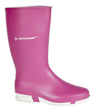 Dunlop Sport Girls / Ladies Pink Wellington Boots Wellies Size 12 - 7 NEW