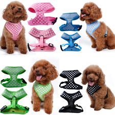 Pet Control Harness for Dog & Cat Soft Mesh Polka Walk Collar Safety Strap Vest