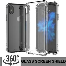 Shockproof 360° Silicone Protective Clear Case Cover For iPhone XS, XS Max, XR