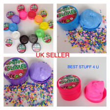 Fluffy Puff Slime Decoration Foam 100g Can Toy Kids Stress Relief UK Seller e5