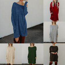 Lk _ Femme Surdimensionné Tricot Long Robe Pull Pull Hiver Pull Lot