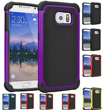 Hybrid Rugged Rubber Hard Defender Shockproof Cover Case Samsung Galaxy S7 S8 +